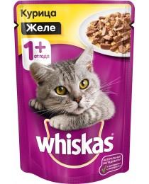 Whiskas 100 гр консерва для кошек с курицей в желе